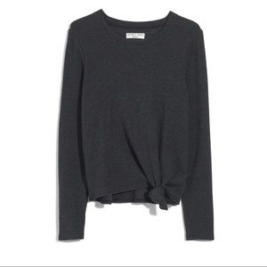 Madewell Texture and Thread Front Knot Top